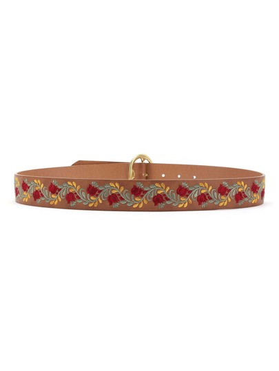 Flower Embroidery Belt