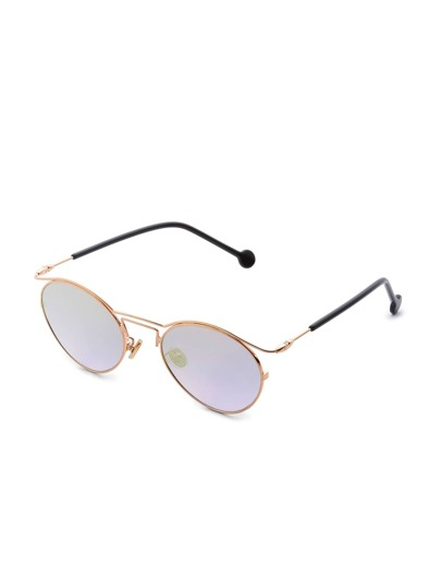 Double Frame Flat Lens Sunglasses