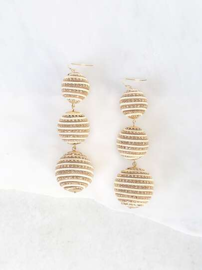 3 Tier Bon Bon Earrings NATURAL