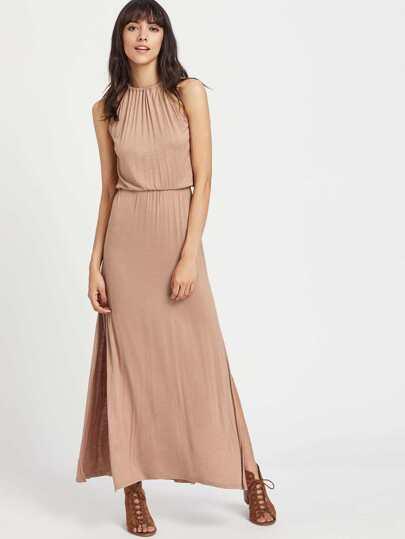 Kleid mit Kordelzug und elastischer Taille