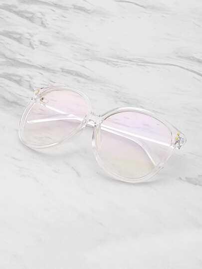 Gafas con lentes ovalados