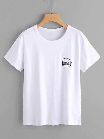 Hamburger Print Tshirt