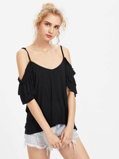 Layered Sleeve Flowy T-shirt