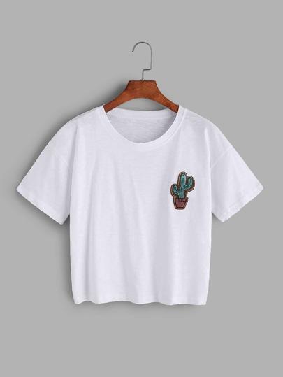 T-shirt brodé par Cactus