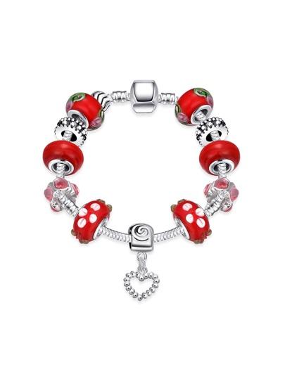 Bracelet en forme de coeur contrasté