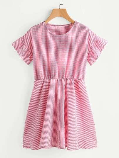 Vestido de rayas en línea A
