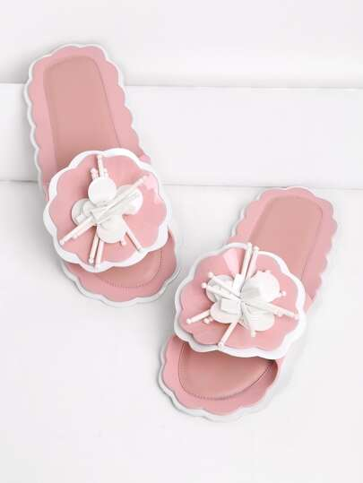 Two Tone Flower pantofole