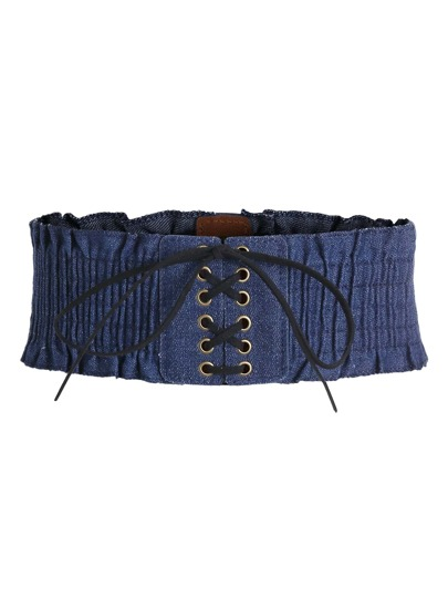 Lace Up Denim Belt