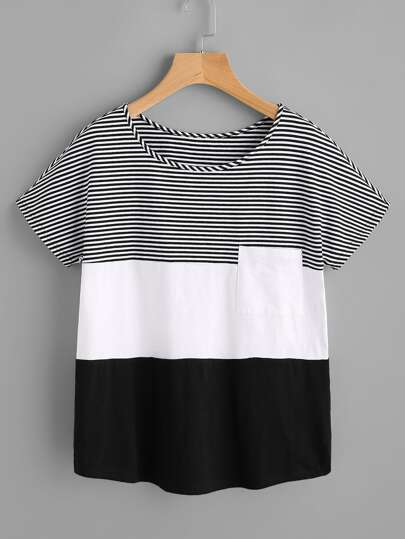 Patch Pocket Front Cut And Sew T-shirt