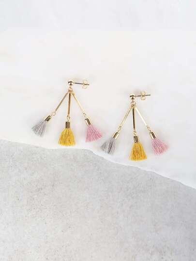 Tassel Drop Earrings MULTI