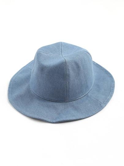 Sombrero fedora en denim con ala ancha