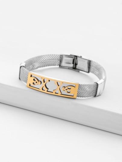 Armband mit Metall und Skeleton