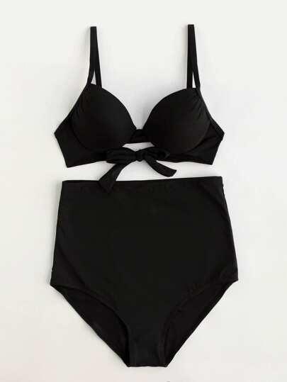 High Waist Bustier Bikini Set