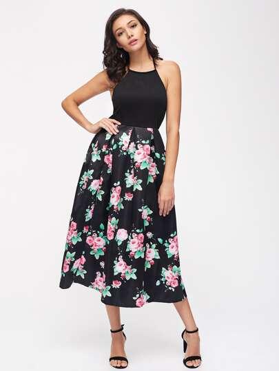 Vestido floral sin espalda