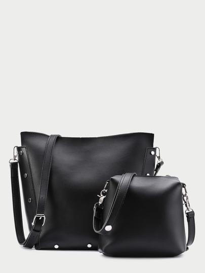PU Bucket Bag With Clutch