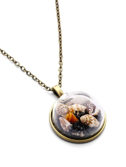 Shell Pendant Long Necklace