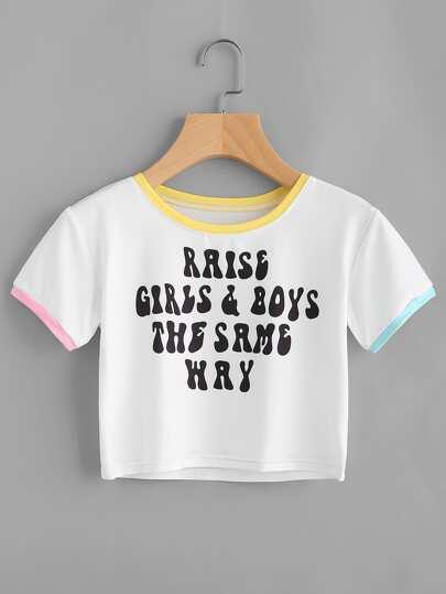 T-Shirt mit Buchstaben