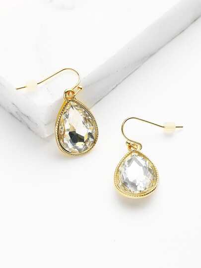 Water Drop Shaped Crystal Earrings