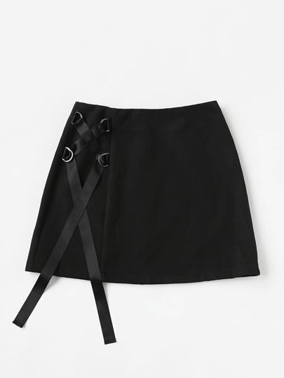 D-Ring Lace Up Skirt