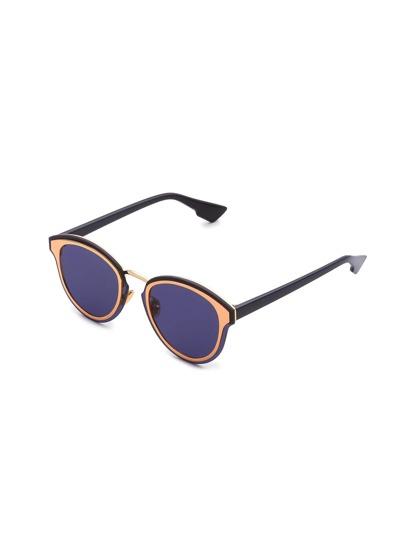 Double Frame Flat Lens Sunglasses