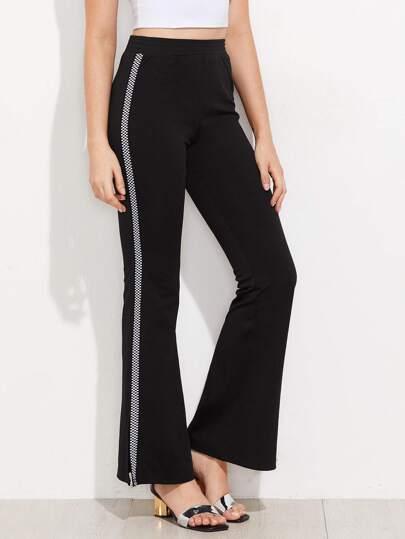 Pantalones con panel con abertura lateral