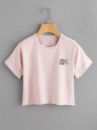 Elephant Print Tee