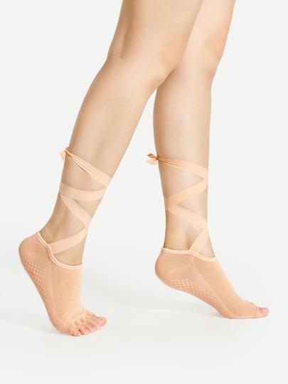 Calcetines para yoga con cordones