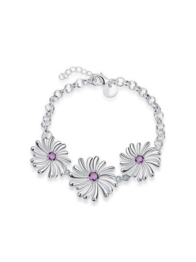 Модный браслет в форме цветка
