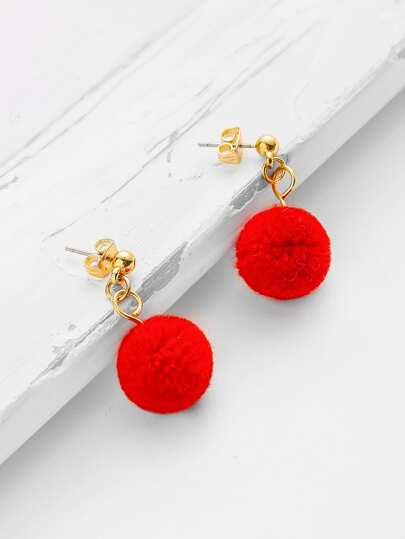 Ball Design Drop Earrings