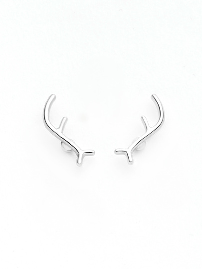 Antler Design Cute Stud Earrings