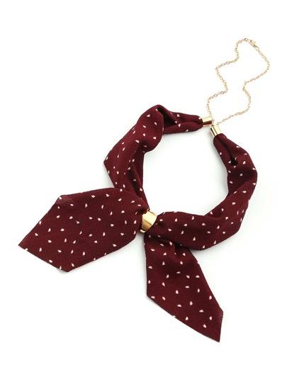 Модный шарф с принтом и цепочкой