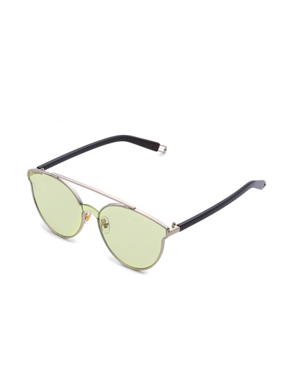 Flat Lens Top Bar Sunglasses