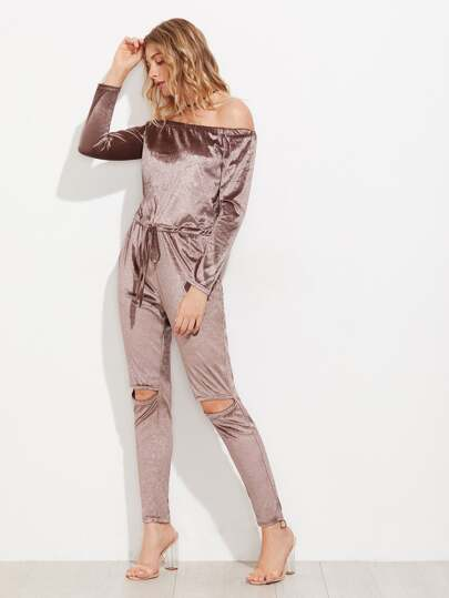 Velvet Bradot Ripped Knee Jumpsuit