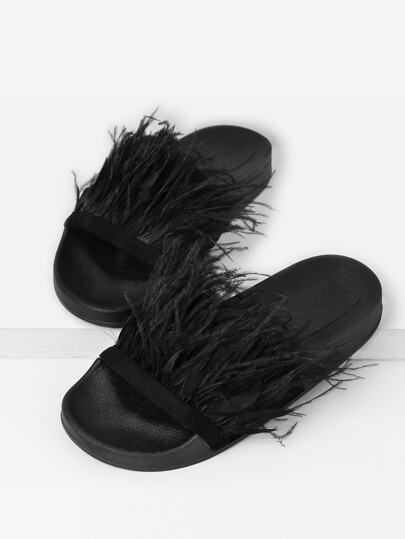 Sandalias con detalle de piel sintética
