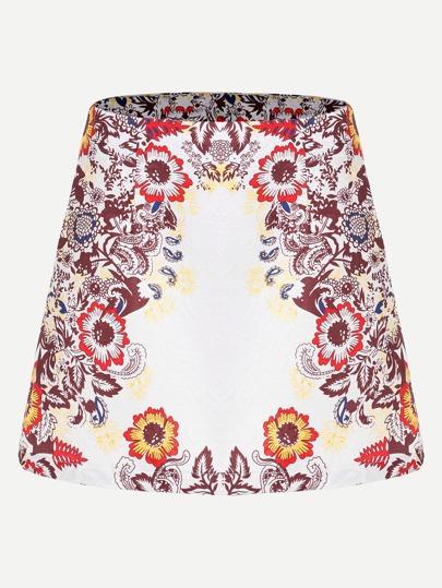 Falda de bordado en línea A