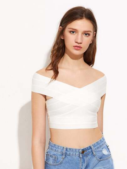 Bardot Crop T-Shirt