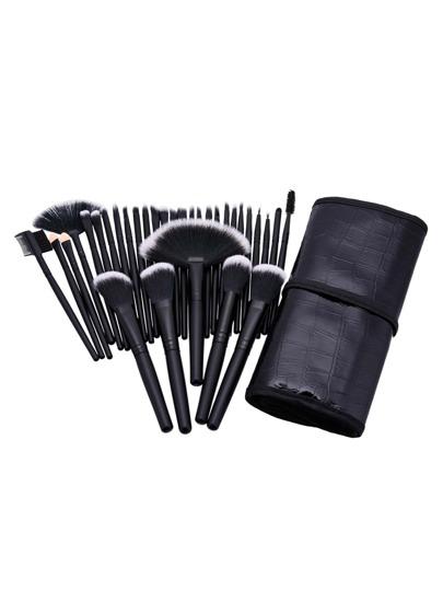 32 piezas de pincel de maquillaje profesional con neceser de pu