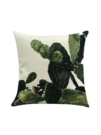 3D Cactus Print Cushion Cover