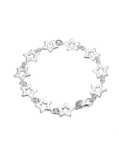 Hollow Star Design Chain Bracelet