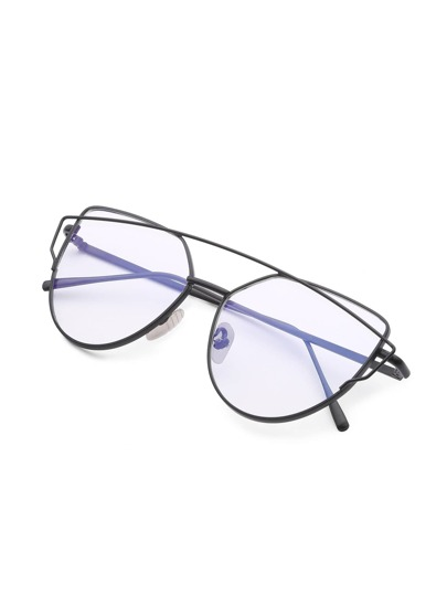 Top Bar Flat Lens Glasses