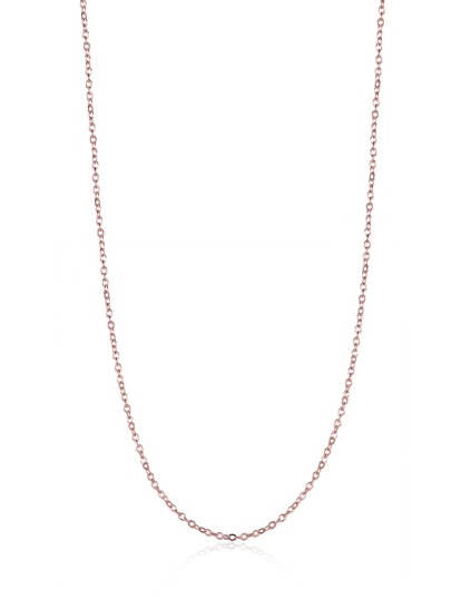 Plated Metal Chain Necklace
