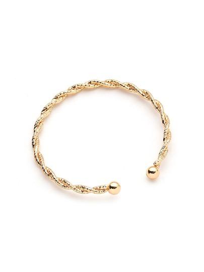 Bracelet avec design tressé