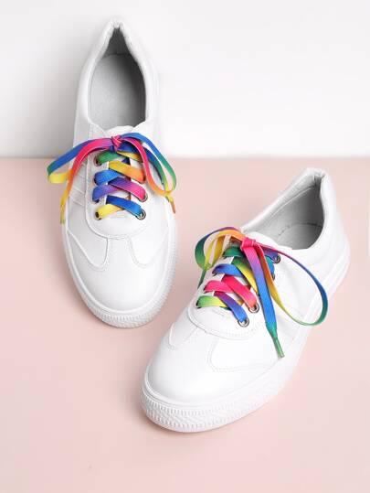 Chaussures de sport à lacets en PU