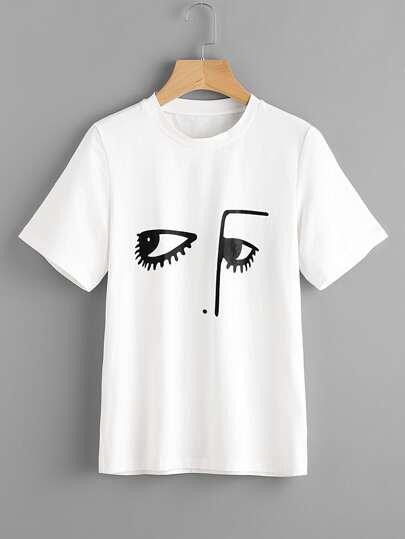 Модная футболка с принтом