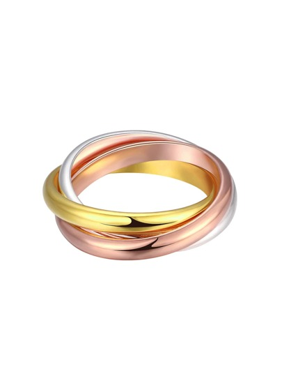 Mixed Metal Smooth Ring