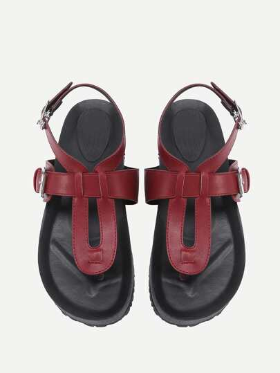 Toe Post PU Sandals