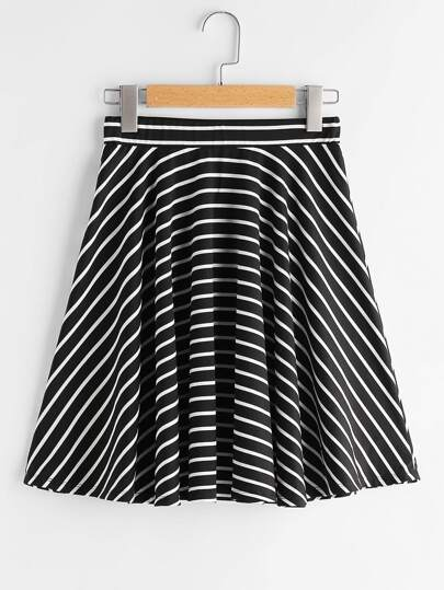 Striped Swing Skirt