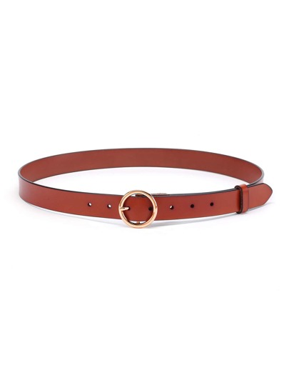 Minimalist Ring Buckle PU Belt