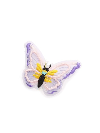 Embroidery Butterfly Hair Clip