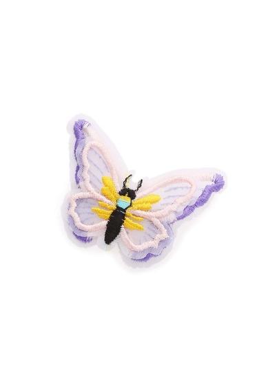 Pasador con bordado de mariposa